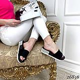 Женские шлепки на платформе 4 см со стразами, пудра, голубые, черные, фиолетовые, фото 4