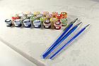 Живопись по номерам Бабочка на герберах GX32864 Brushme 40 х 50 см (без коробки), фото 4