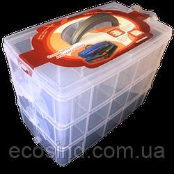 24,5х16х18см пластикова тара (валізку, контейнер, органайзер) для рукоділля та шиття (657-Л-0211)