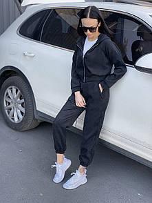 Жіночий вельветовий костюм black Doberman
