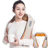 Массажер роликовый с ИК-прогревом для шеи и плеч Massager of Neck Kneading, фото 1