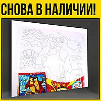 Маша и медведь | роспись по холсту раскраска номерах для картины картину НЕ картина по номерам