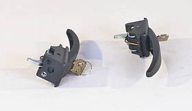 Ручка двери наружняя (черная) УАЗ 452 (комплект- 2 шт.) в сборе с ключом (производство г.Ульяновск) (арт. 452-6105150), rqz1qttr