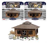 Ферма для детей модель Q 9899 ZJ77, в наличии 2 вида, в коробке фигурки животных и аксессуары фермеров.