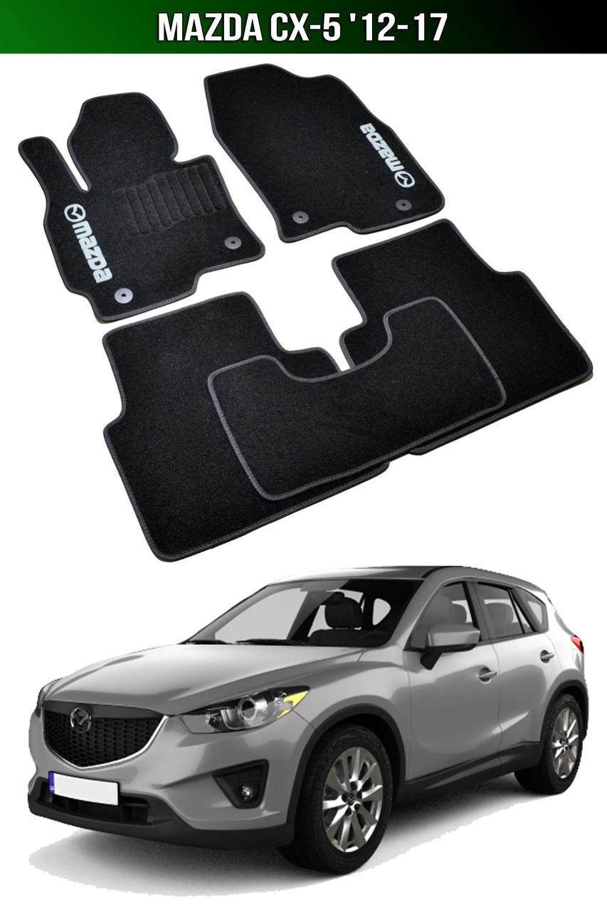 Коврики Mazda CX-5 '12-17. Текстильные автоковрики Мазда СХ 5