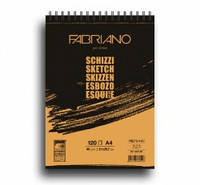 Блокнот для ескізів Schizzi А4 (21х29,7 см) 90 г/м.кв. 120 аркушів на спіралі (FABRIANO Італія)