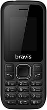 Кнопочный телефон простой, удобный с блютузом и фонариком на 2 сим карты Bravis C183 Rife Black