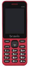 Кнопочный телефон недорогой красный с большим дисплеем на 2 сим карты  Bravis C246 Fruit Dual Sim Red