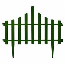 Ограждение для газона Заборчик 64*55 зеленый 4 секции  Алеана