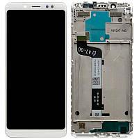 Дисплейный модуль LCD Xiaomi Redmi Note 5 + touch + frame White