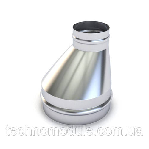 Перехід вентиляційний оцинкований односторонній 0,55 D150 D125