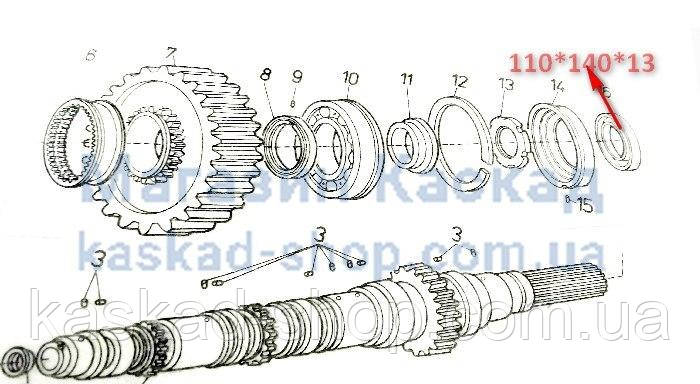 Сальник 110х140х13 КПП TATRA-815