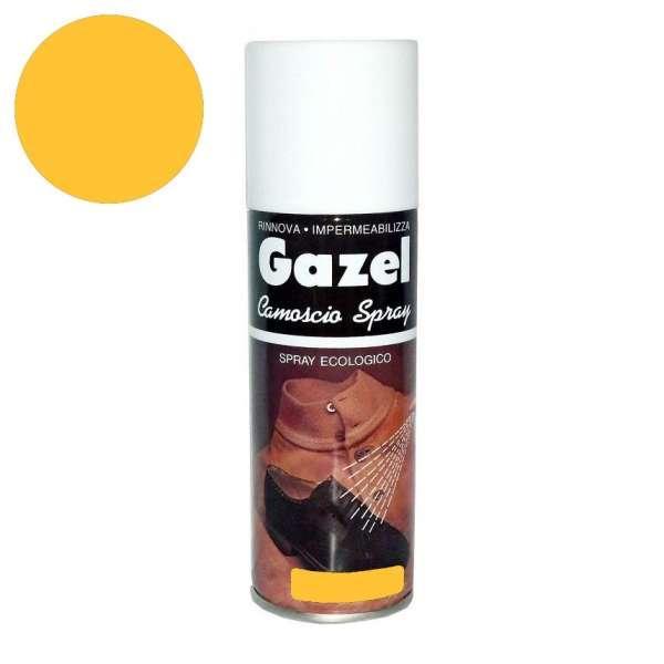 ✅ Желтая аэрозольная краска для замши и нубука Wilbra Gazel Camoscio, 200 мл