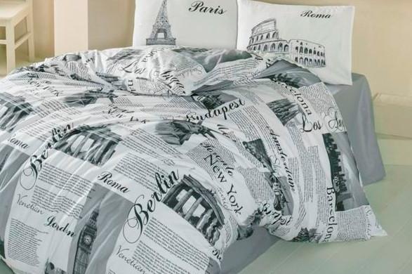 Постельное белье 2-спальное евро LIGHTHOUSE City