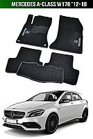 Коврики Mercedes А-Class W176 '12-18. Текстильные автоковрики Мерседес, фото 1