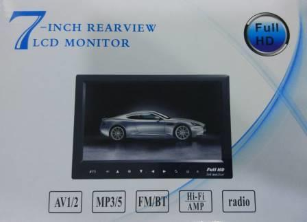"""Монітор для камери заднього виду 7"""" USB/TF/MP5 (20)"""