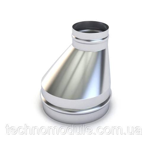 Перехід вентиляційний оцинкований односторонній  0,55 D250 D200