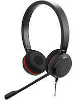 Проводная аудио гарнитура Jabra EVOLVE 20 UC Stereo USB (кожа)