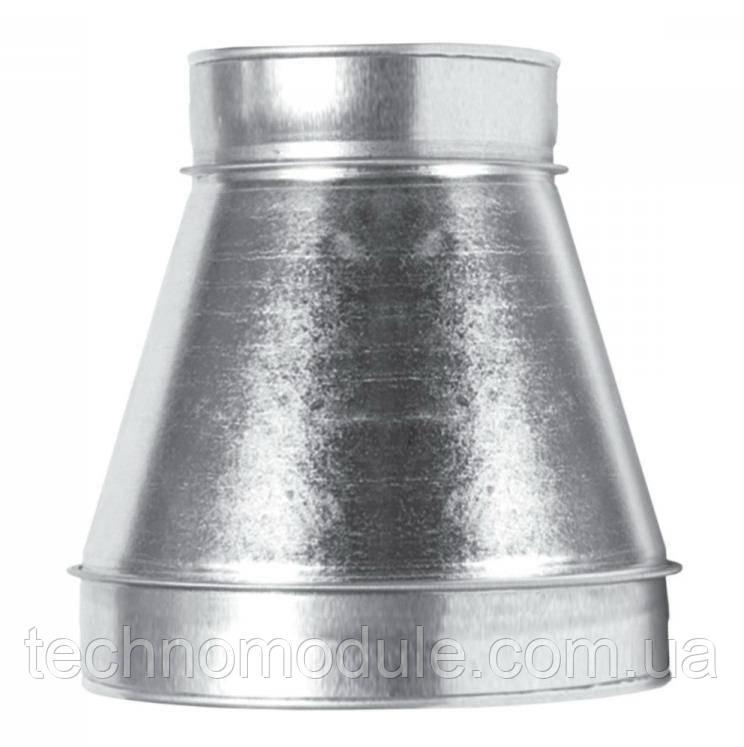 Перехід вентиляційний оцинкований центральний 0,55 D200 D100
