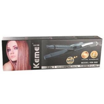 Женская плойка Kemei GB-KM 988 3 в 1 Черный