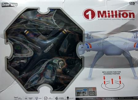Квадрокоптер 1 million c HD камерою, на пульті, радіокерований коптер