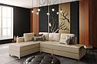 """Раскладной угловой диван в качественной ткани светлого цвета """"Ден"""", фото 2"""