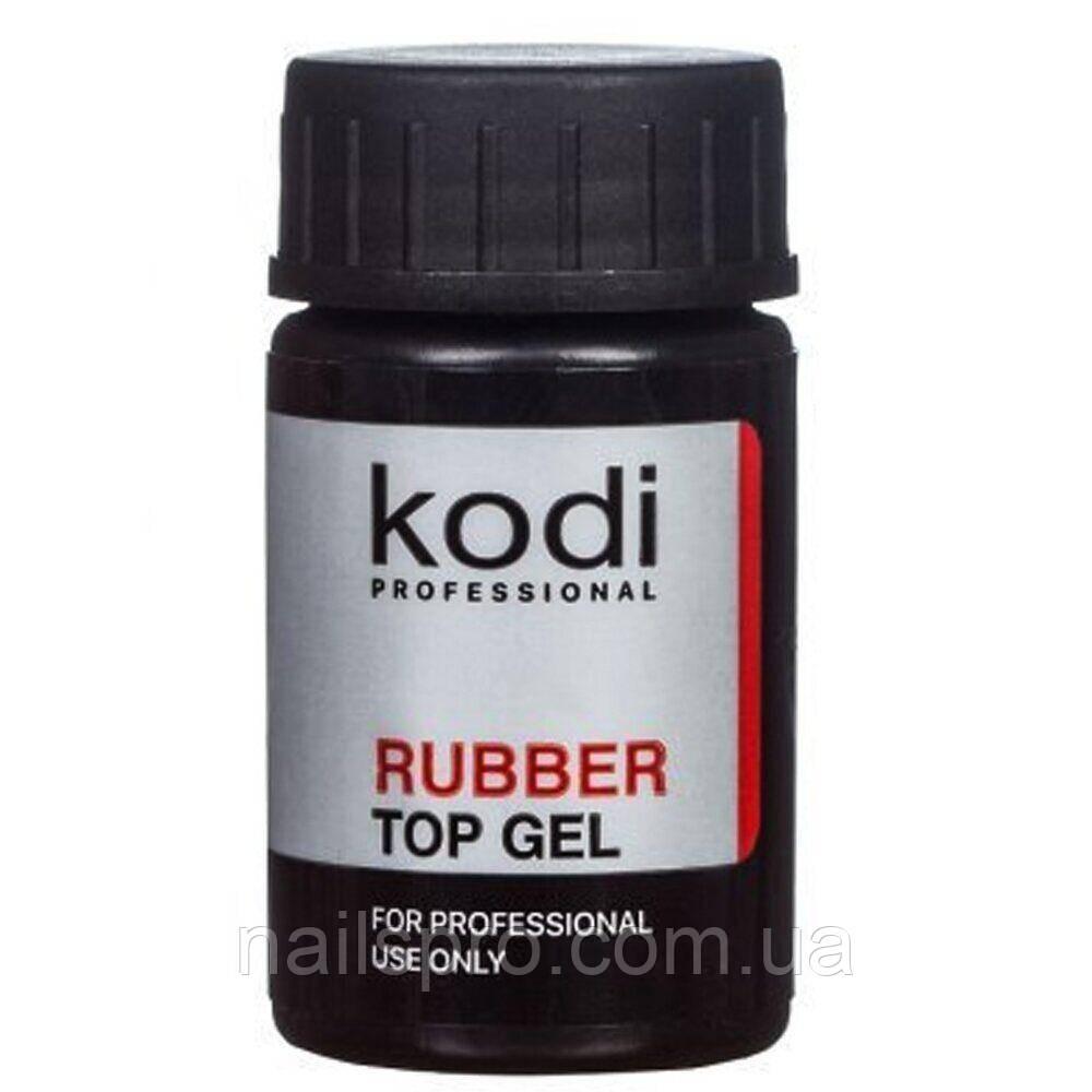 Топ для нігтів Kodi Professional 14 мл Rubber Top Gel без пензлика