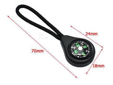 Мини-компас бегунок на молнию или на рюкзак
