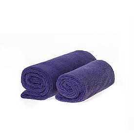 Набор спортивных полотенец фиолетовых 300гр/м2  (45*95 и 35*75)