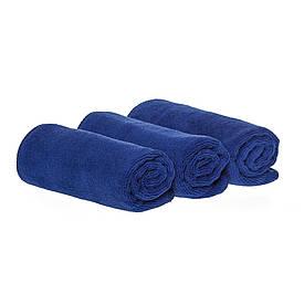 Спортивное полотенце микрофибра, набор 35*75см, 300гр/м2 ( 3 шт. синий)