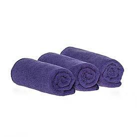 Спортивное полотенце микрофибра, набор 35*75см, 300гр/м2 ( 3 шт. фиолетовый)