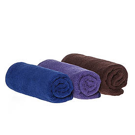 Набор спортивных полотенец 35*75см, 300гр/м2  ( фиолетовый, синий, коричневый)
