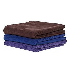 Спортивное полотенце микрофибра, набор 45*95см, 300гр/м2 (фиолетовый, синий, коричневый)