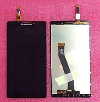 Lenovo K910 black LCD, модуль, дисплей с сенсором в зборе