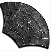 Веер 54*97 см - резиновый штамп для бетона; имитация брусчатки; веерная укладка; форма печтного цемента