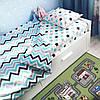 Комплект постельного белья  в кроватку Звезды -прянички голубые, поплин