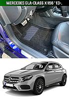 3D Коврики Mercedes GLA-Class X156 '13-. Текстильные автоковрики Мерседес