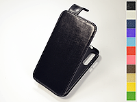 Откидной чехол из натуральной кожи для Motorola Moto G8 Plus (ХТ2019)