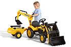 Детский трактор на педалях с прицепом и ковшом Komatsu FALK 2076N, фото 3