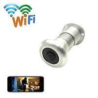 Видеоглазок WiFi с датчиком движения, записью и ИК подсветкой HQCAM D198, 2Мп, 1080P, APP V380. Новинка 2020г!