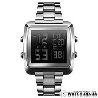 Мужские Электронные Часы Skmei 1369, Серебристый