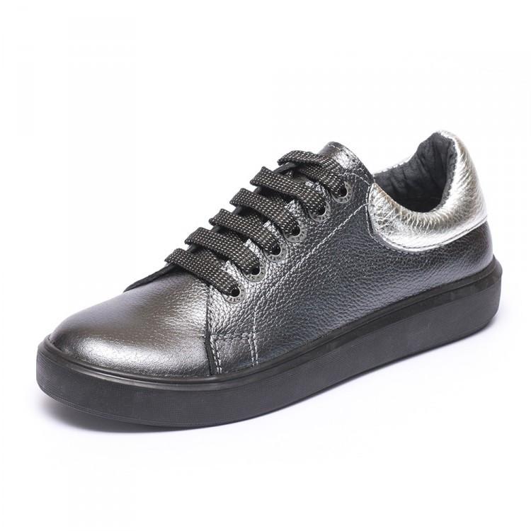Кеды темное серебро 805-09