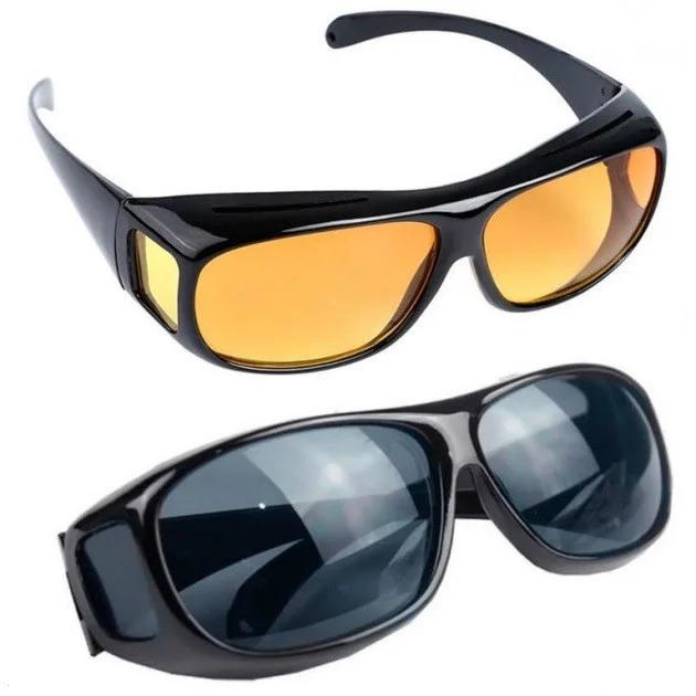 Комплект Очки анти-бликовые для водителей HD Vision 2 в 1