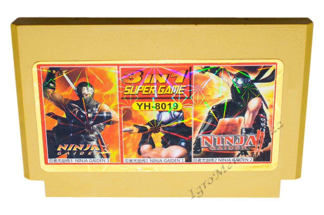 Картридж денди 3 в 1 Ninja Gaiden Ryuukenden 1+2+3