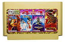 Картридж денди 4 в 1 Chip Dail 2, Batman, Spiderman, Snow Bros