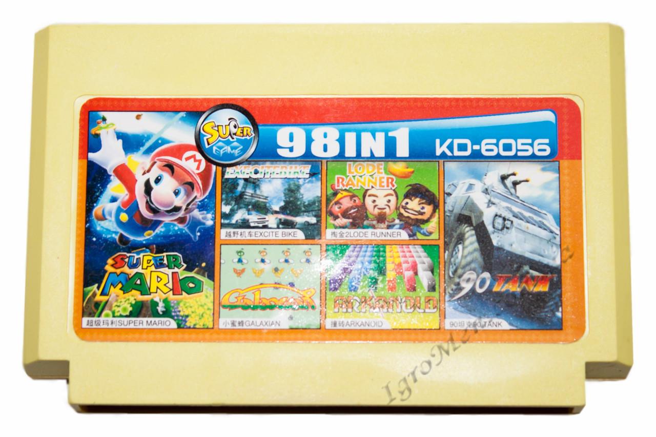 Картридж денди 98 в 1 Супер Марио, Танк 90