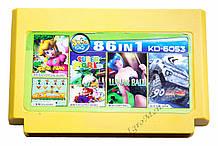 Картридж денди 86 в 1 Супер Марио, Танк 90, Адвентуре Исланд