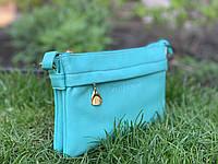 Женская маленькая сумочка-клатч голубого цвета Pretty Woman