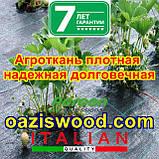 Агротканина на метраж 1,6 м 85г/м. AGREEN плетена, чорна, щільна. Мульчування грунту на 7-10 років, фото 4
