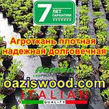 Агротканина на метраж 1,6 м 85г/м. AGREEN плетена, чорна, щільна. Мульчування грунту на 7-10 років, фото 5